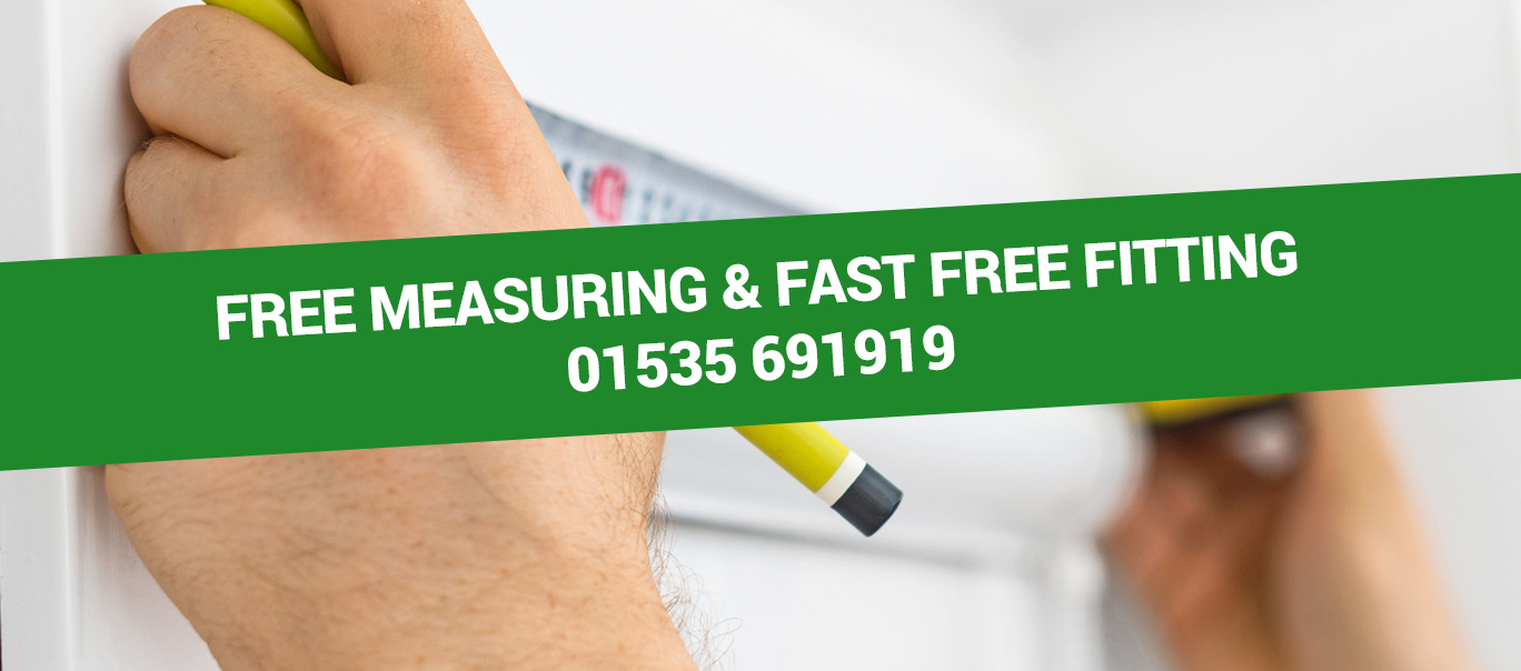 Free Measuring and Fitting Service for your Blinds. Call us on 01535 691919